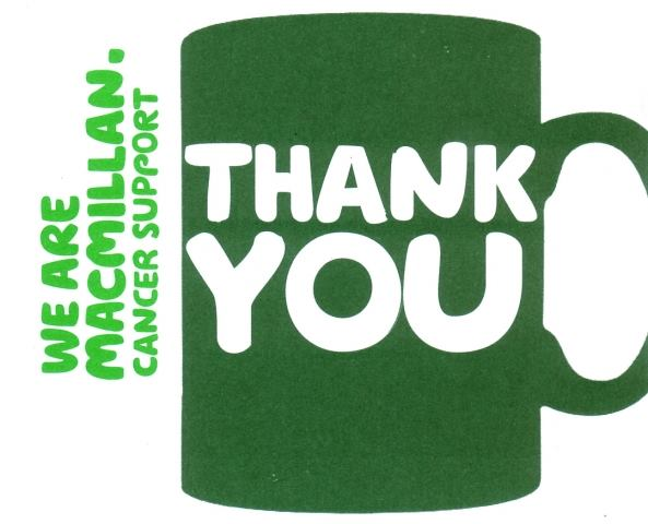Image result for macmillan cake morning thank you